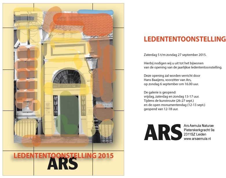 Ledententoonstelling Ars in Leiden. 5-27 sept. 2015